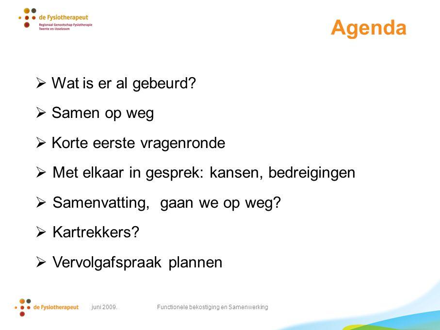 Agenda  Wat is er al gebeurd.
