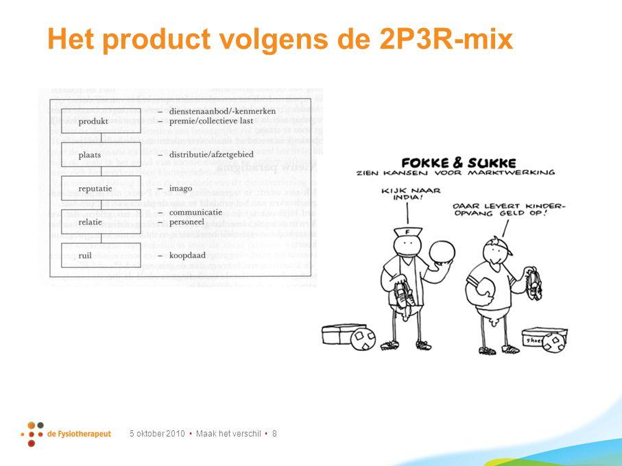 Voorbeeld stakeholderonderzoek Isala met behulp van 2P3R-marketingmix 5 oktober 2010 Maak het verschil 9
