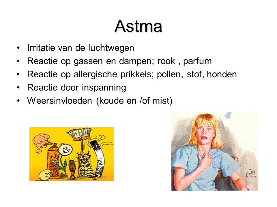 7Behandelmogelijkheden COPD Astma Irritatie van de luchtwegen Reactie op gassen en dampen; rook, parfum Reactie op allergische prikkels; pollen, stof,