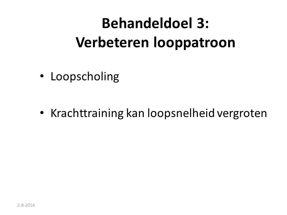 2-8-2014 Behandeldoel 3: Verbeteren looppatroon Loopscholing Krachttraining kan loopsnelheid vergroten