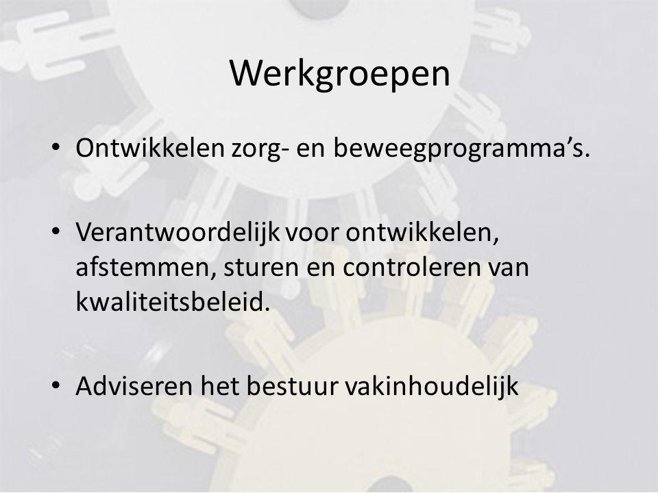 Werkgroepen Ontwikkelen zorg- en beweegprogramma's.