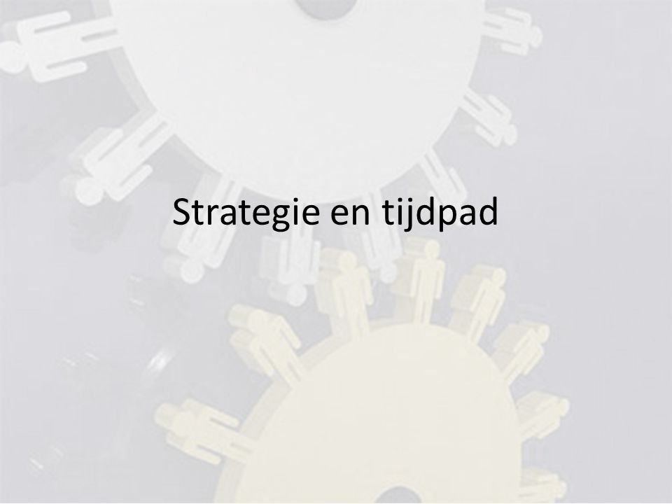 Strategie en tijdpad