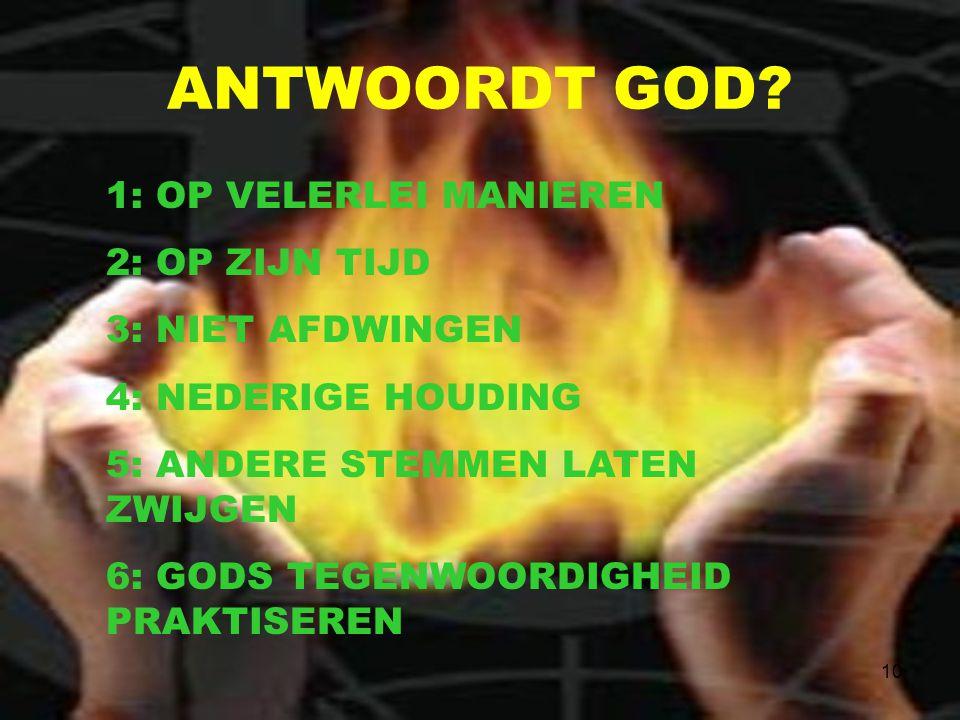10 ANTWOORDT GOD.