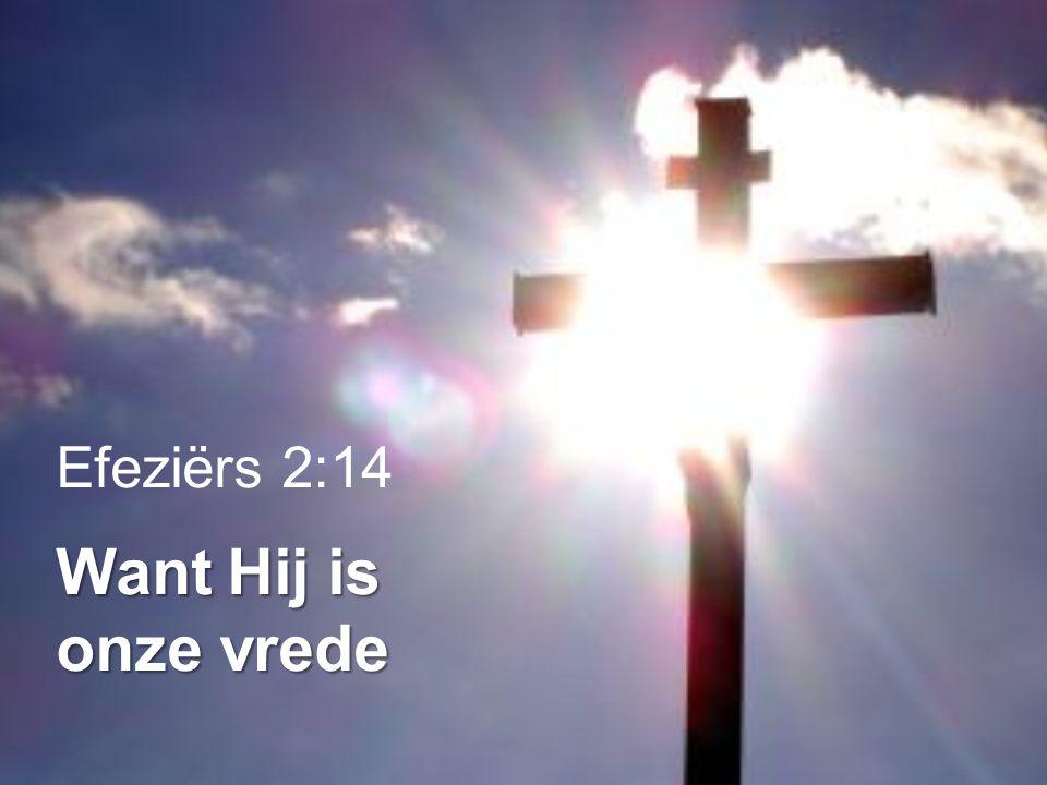 Efeziërs 2:14 Want Hij is onze vrede