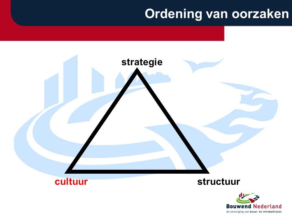 cultuurstructuur strategie Ordening van oorzaken