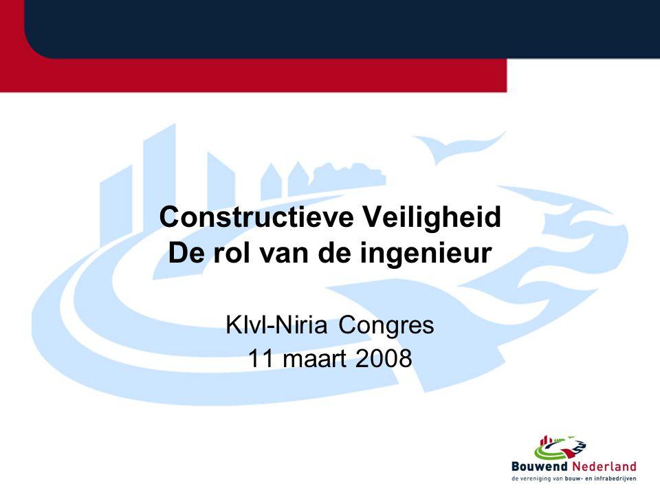 Constructieve Veiligheid De rol van de ingenieur KIvI-Niria Congres 11 maart 2008