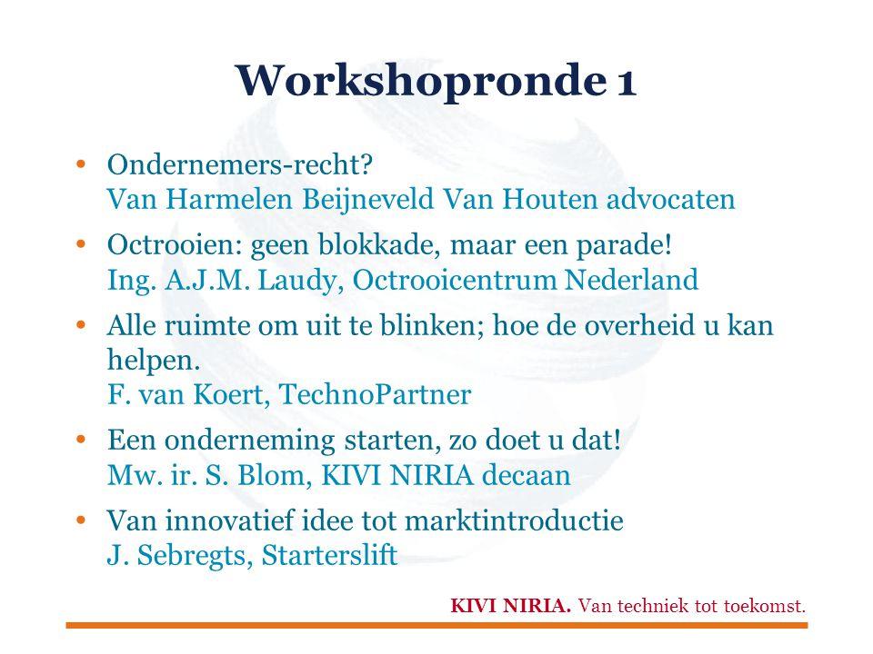 KIVI NIRIA. Van techniek tot toekomst. Workshopronde 1  Ondernemers-recht.