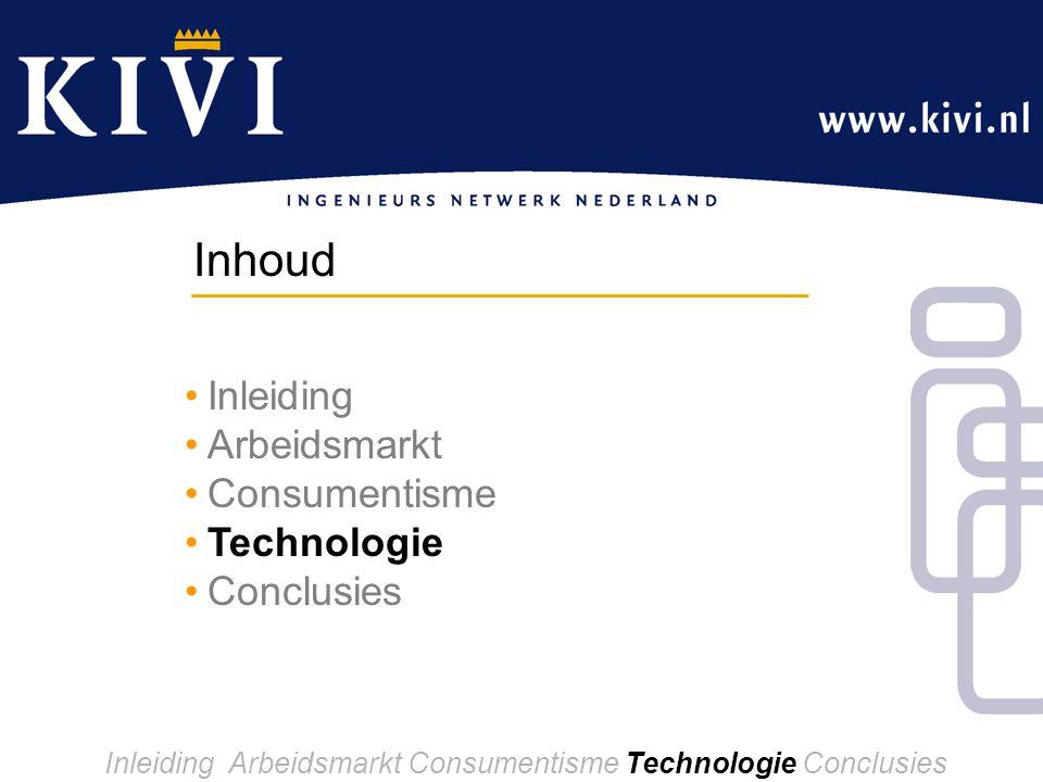 Inleiding Arbeidsmarkt Consumentisme Technologie Conclusies Inleiding Arbeidsmarkt Consumentisme Technologie Conclusies Inhoud