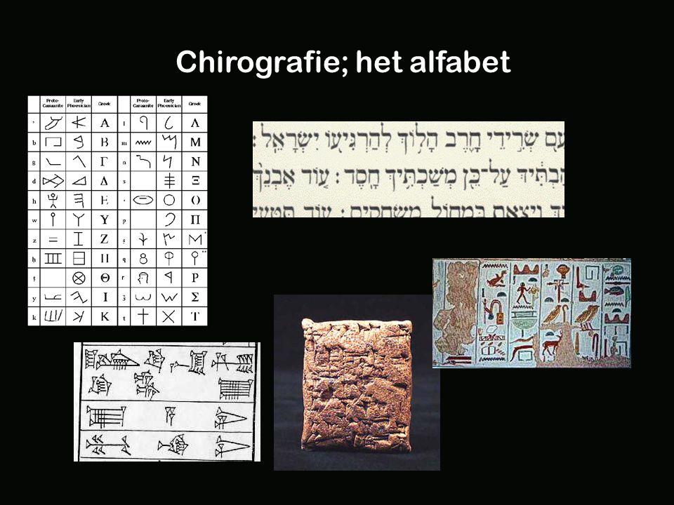 Chirografie; het alfabet
