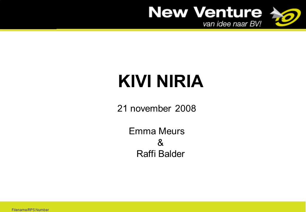 0 Filename/RPS Number KIVI NIRIA 21 november 2008 Emma Meurs & Raffi Balder