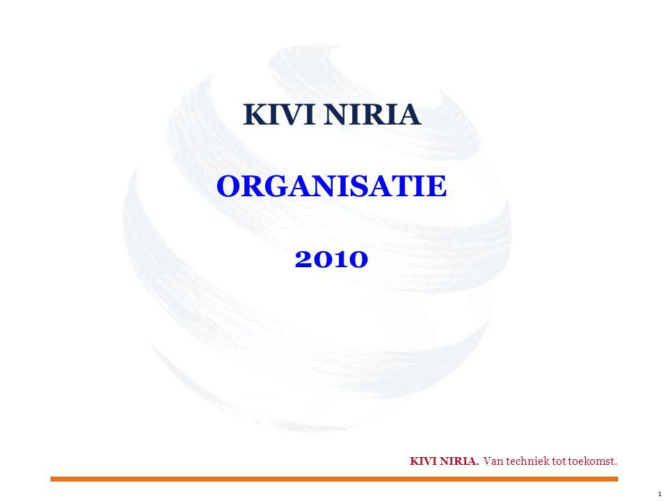 1 KIVI NIRIA. Van techniek tot toekomst. KIVI NIRIA ORGANISATIE 2010