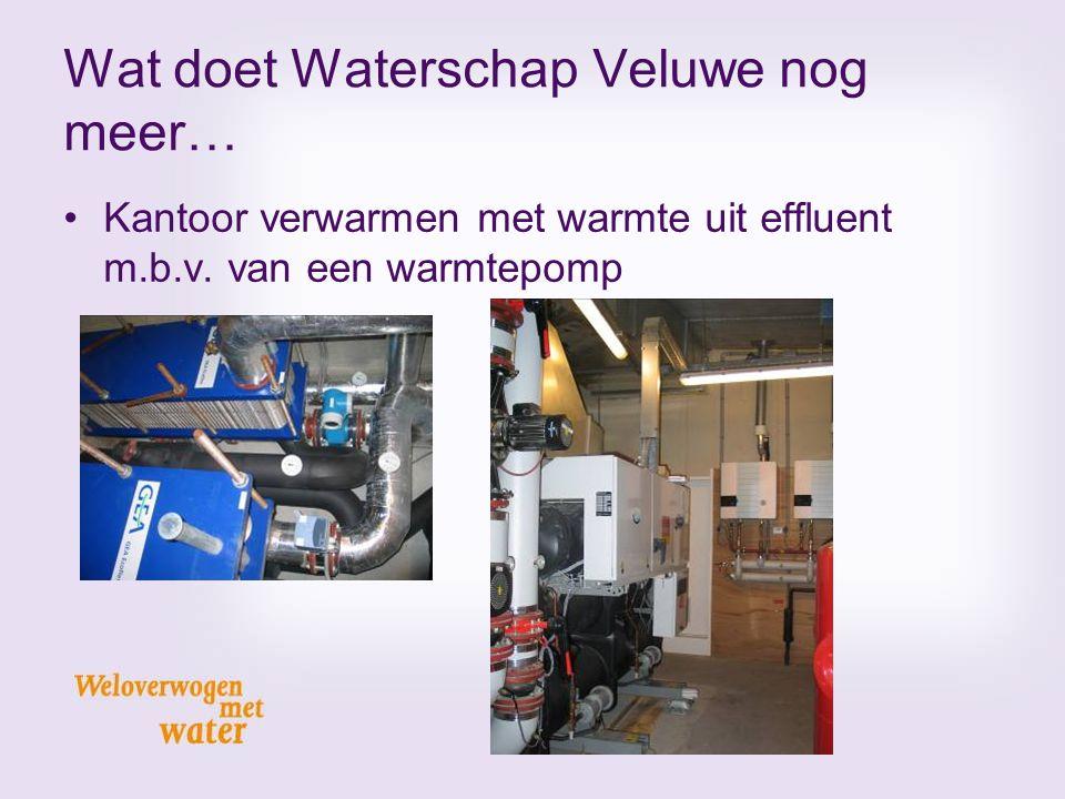 Wat doet Waterschap Veluwe nog meer… Kantoor verwarmen met warmte uit effluent m.b.v. van een warmtepomp