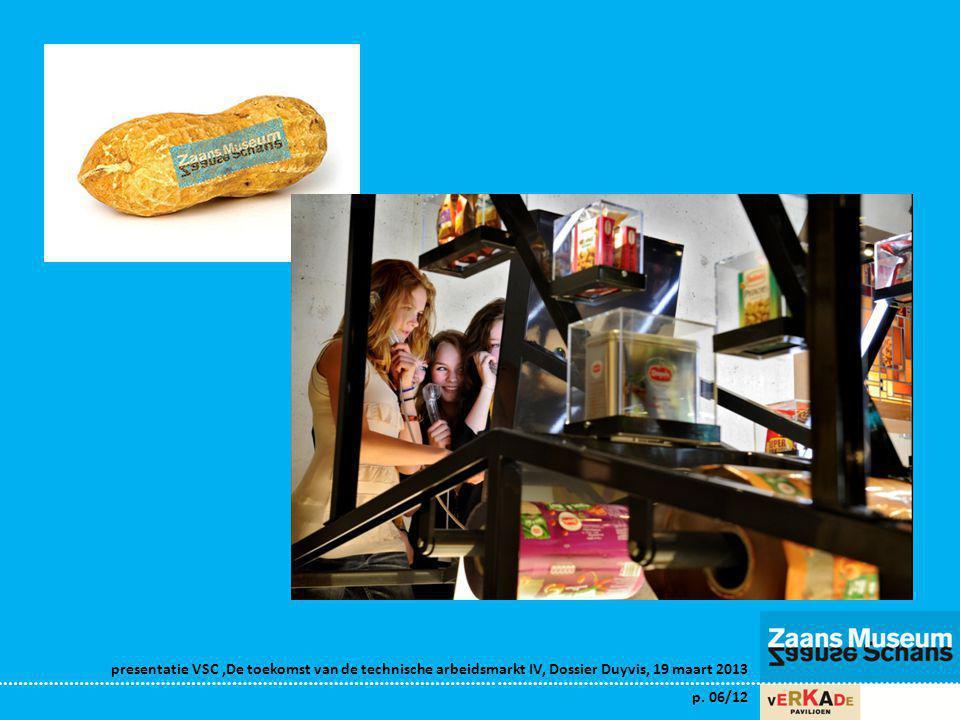 presentatie VSC,De toekomst van de technische arbeidsmarkt IV, Dossier Duyvis, 19 maart 2013 p. 06/12