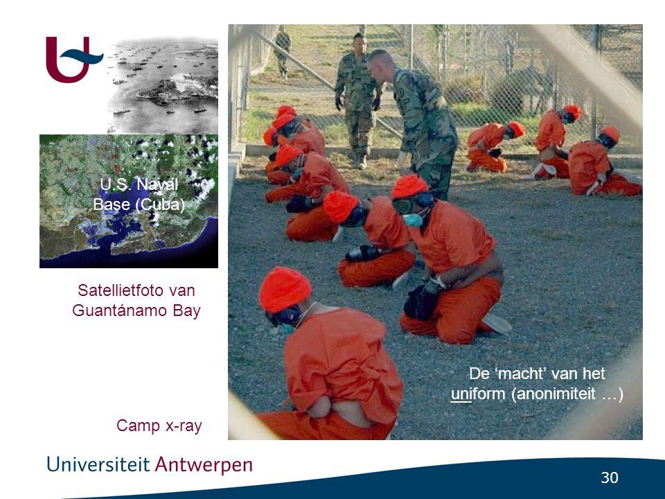 30 Satellietfoto van Guantánamo Bay Camp x-ray U.S.