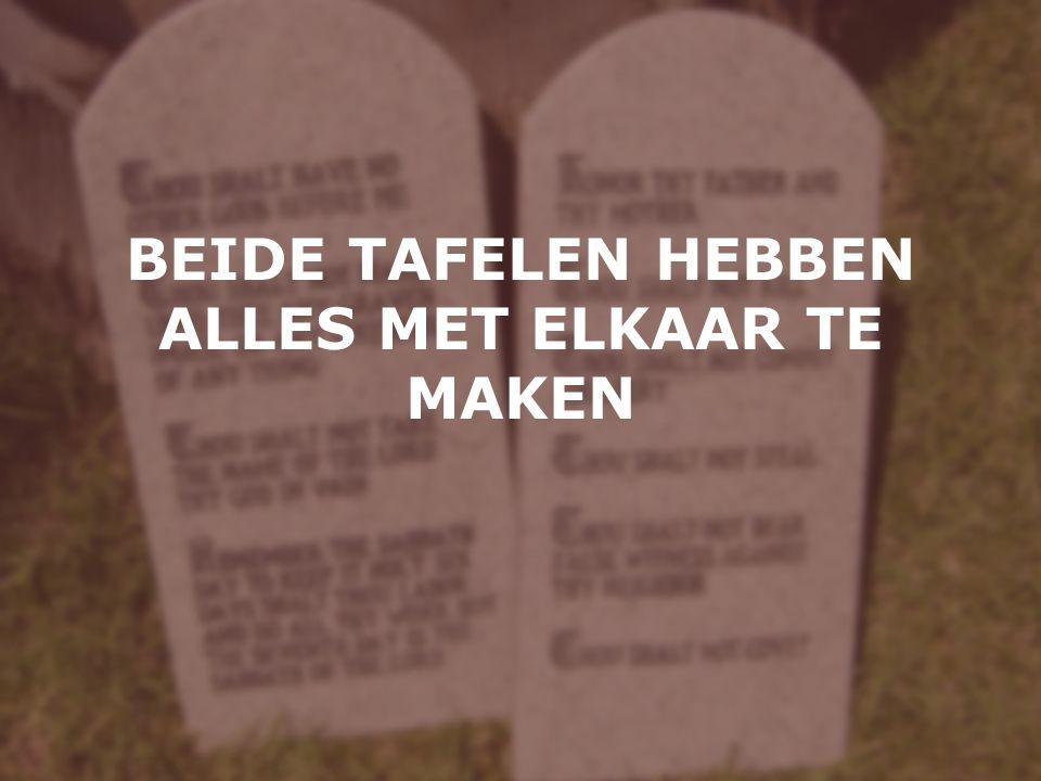 BEIDE TAFELEN HEBBEN ALLES MET ELKAAR TE MAKEN