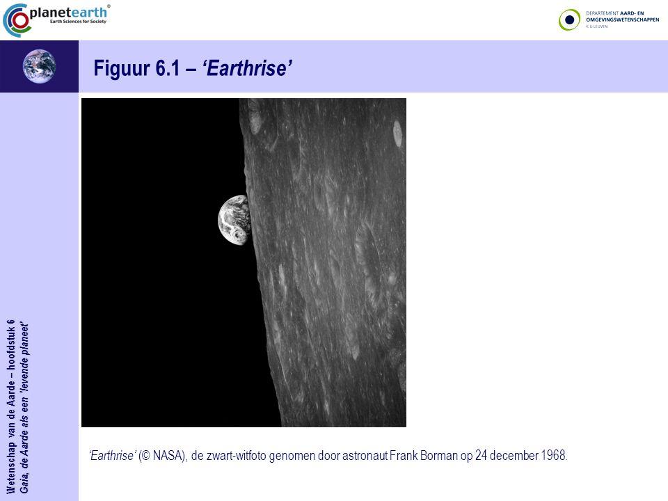 Wetenschap van de Aarde – hoofdstuk 6 Gaia, de Aarde als een levende planeet Figuur 6.1bis – 'Earthrise' 'Earthrise' (© NASA).