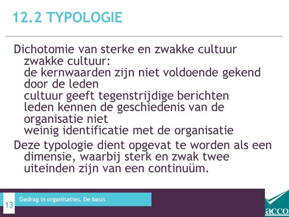 Dichotomie van sterke en zwakke cultuur zwakke cultuur: de kernwaarden zijn niet voldoende gekend door de leden cultuur geeft tegenstrijdige berichten