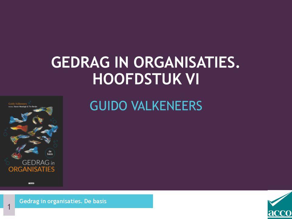 GUIDO VALKENEERS GEDRAG IN ORGANISATIES. HOOFDSTUK VI Gedrag in organisaties. De basis 1