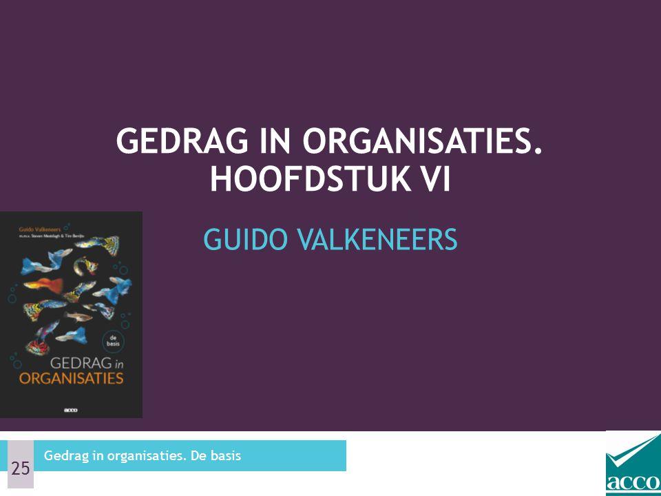 GUIDO VALKENEERS GEDRAG IN ORGANISATIES. HOOFDSTUK VI Gedrag in organisaties. De basis 25