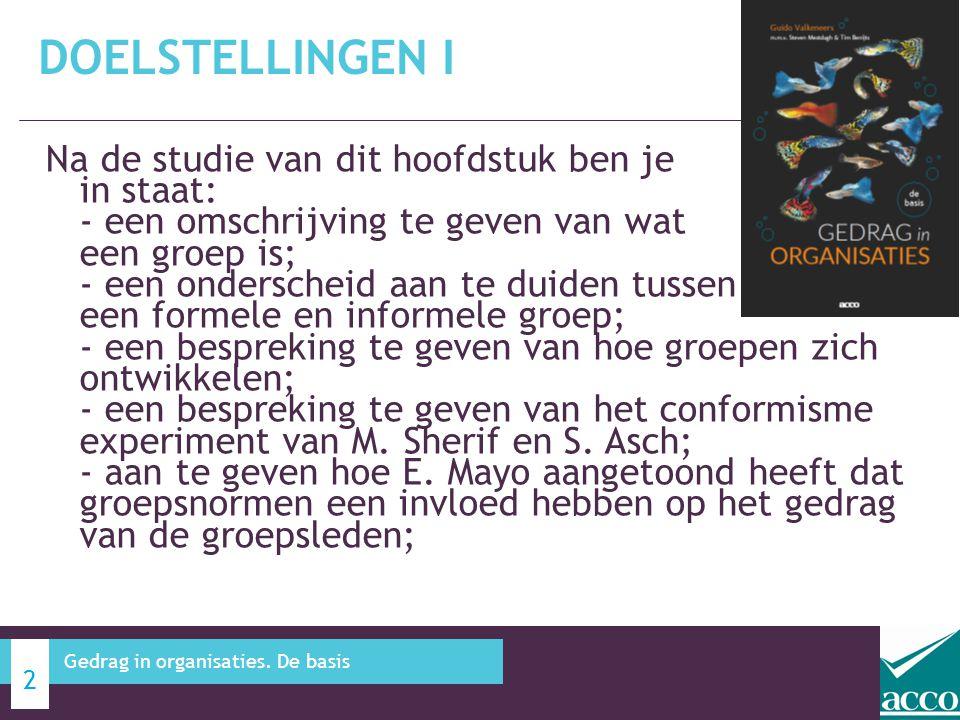 Alternatieve besluitvorming in groepen - brainstorming 7.4 KANSEN EN RISICO'S IN DE GROEP 23 Gedrag in organisaties.