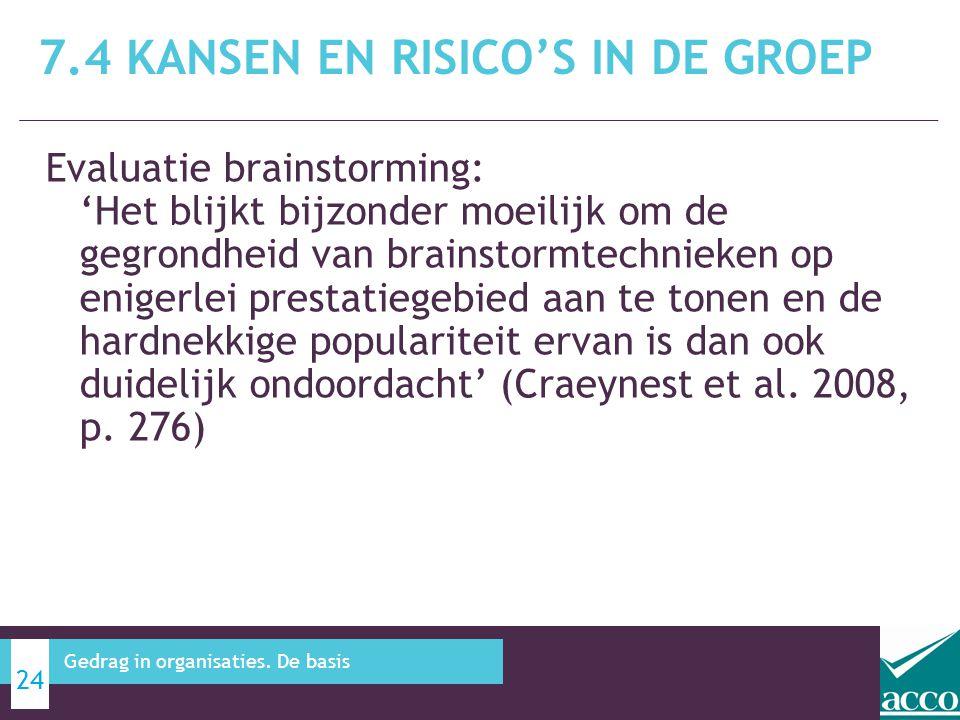Evaluatie brainstorming: 'Het blijkt bijzonder moeilijk om de gegrondheid van brainstormtechnieken op enigerlei prestatiegebied aan te tonen en de har