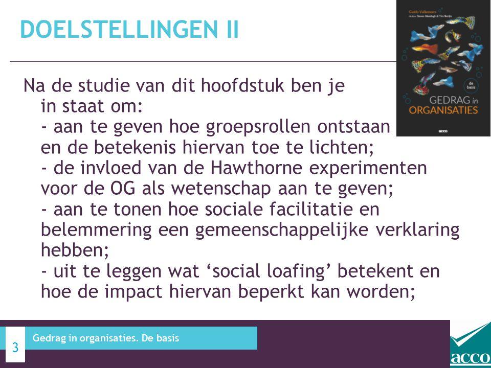 Bedreigingen I: - sociale facilitatie en belemmering.