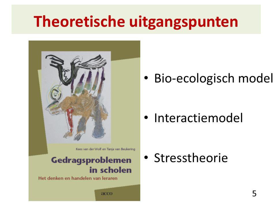 Theoretische uitgangspunten Bio-ecologisch model Interactiemodel Stresstheorie 5