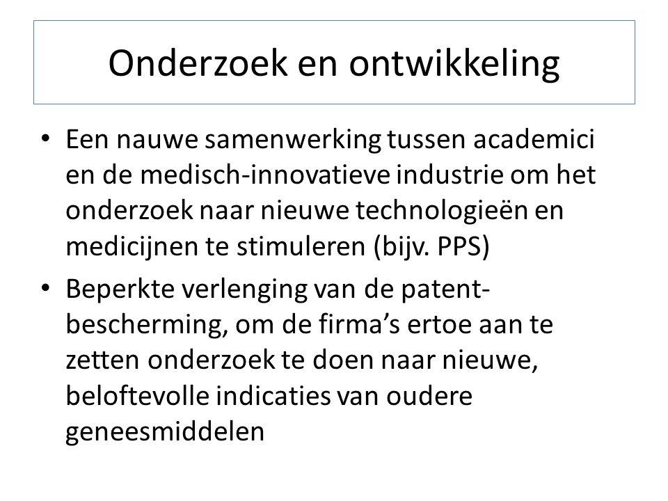 Onderzoek en ontwikkeling Een nauwe samenwerking tussen academici en de medisch-innovatieve industrie om het onderzoek naar nieuwe technologieën en me