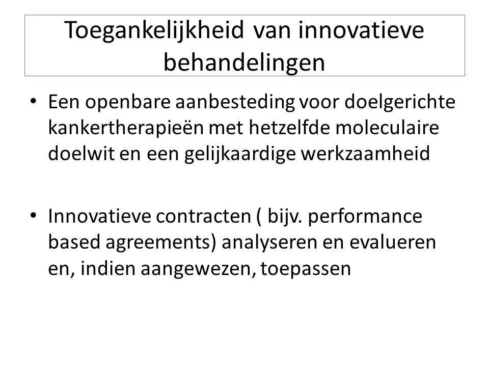 Toegankelijkheid van innovatieve behandelingen Een openbare aanbesteding voor doelgerichte kankertherapieën met hetzelfde moleculaire doelwit en een g