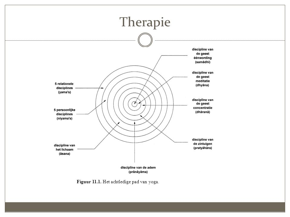 Therapie Figuur 11.1. Het achtledige pad van yoga.