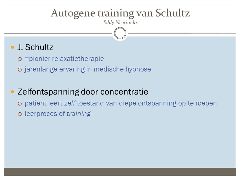 Wat is autogene training.