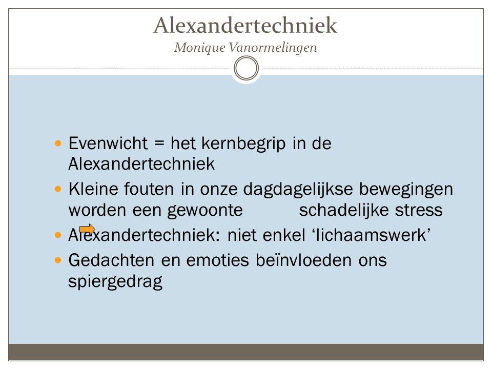 Wat is Alexandertechniek.