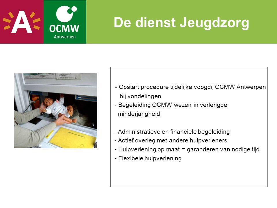 - Opstart procedure tijdelijke voogdij OCMW Antwerpen bij vondelingen - Begeleiding OCMW wezen in verlengde minderjarigheid - Administratieve en finan
