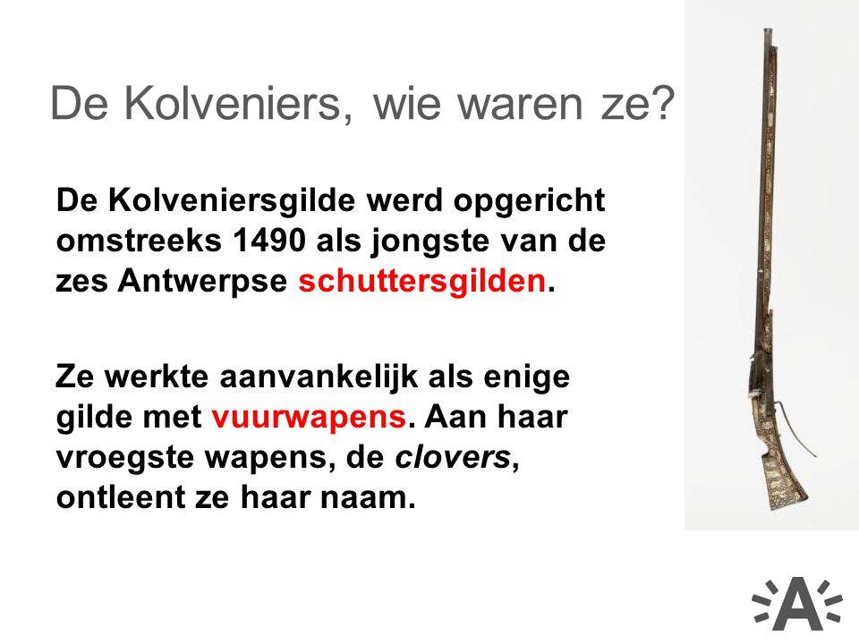 De Kolveniersgilde werd opgericht omstreeks 1490 als jongste van de zes Antwerpse schuttersgilden.