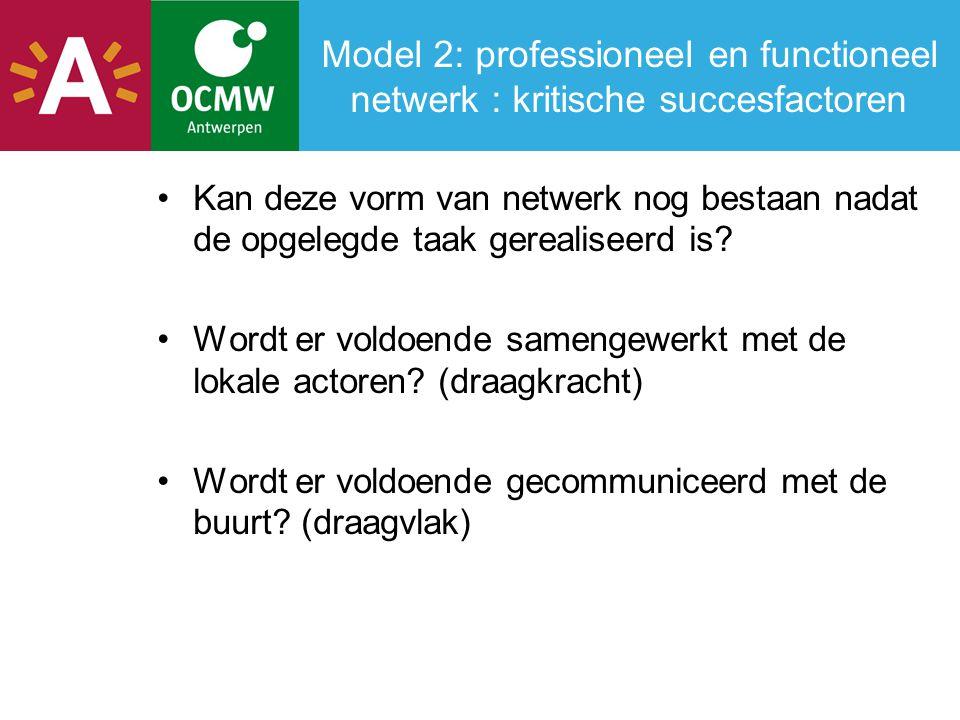 Algemene besluiten - debat (2) Leerpunten voor een organisatie Een van de vragen uit de groepen: hoe gaat een organisatie om met netwerken als taak van een medewerker.
