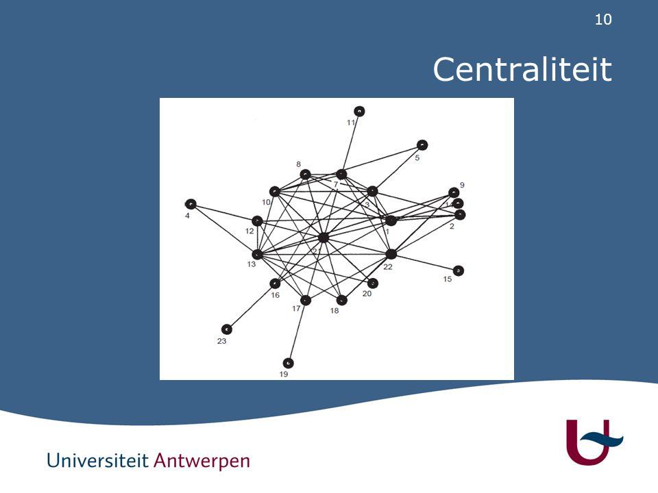 10 Centraliteit