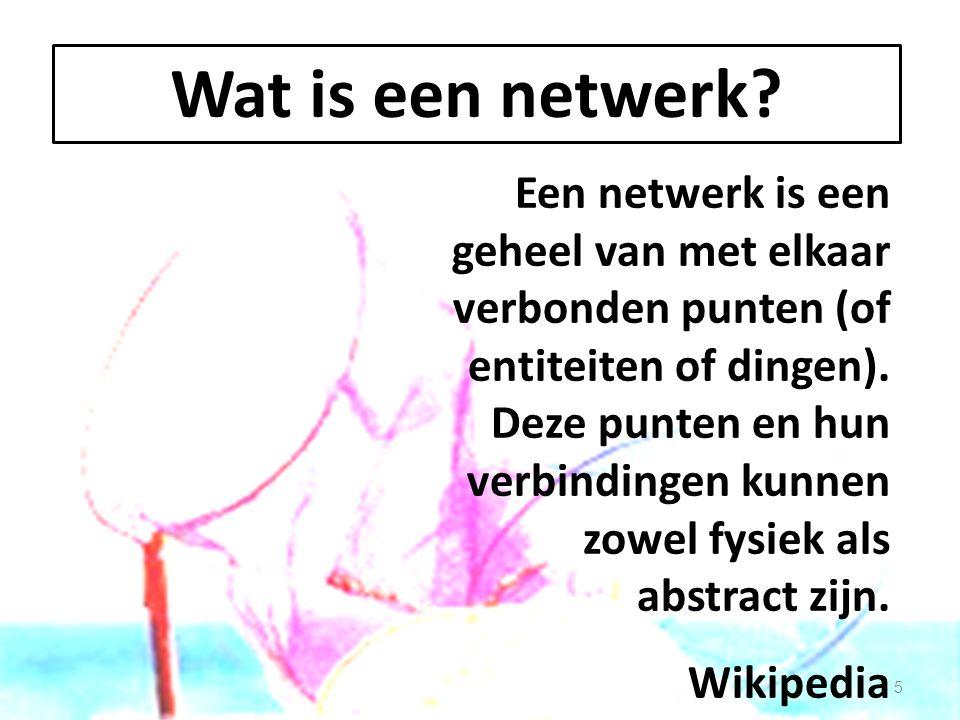 Kenmerken van een netwerk een nuttig instrument bewust gebruik bedoeld voor een vangst moet gespannen worden dus bewuste manipulatie 6