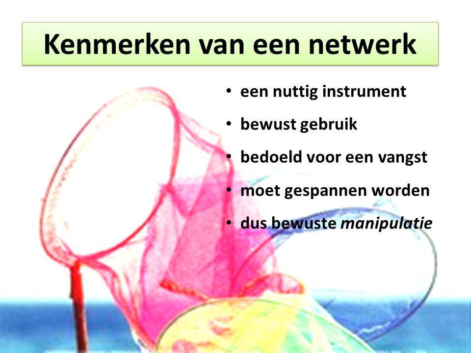 Kenmerken van een netwerk Kortom: netwerken is een sturingsmethode.