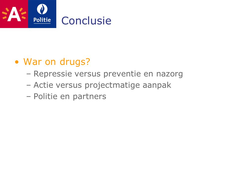 Conclusie War on drugs.