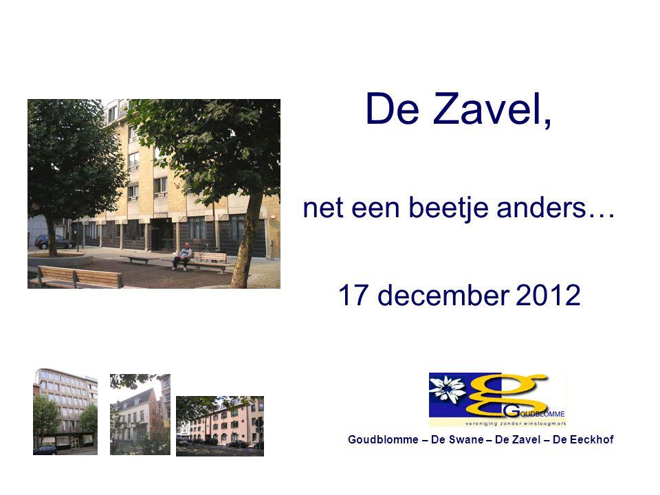 De Zavel, net een beetje anders… 17 december 2012 Goudblomme – De Swane – De Zavel – De Eeckhof