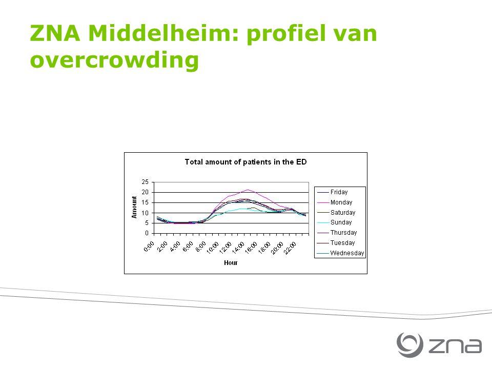 ZNA Middelheim: profiel van overcrowding