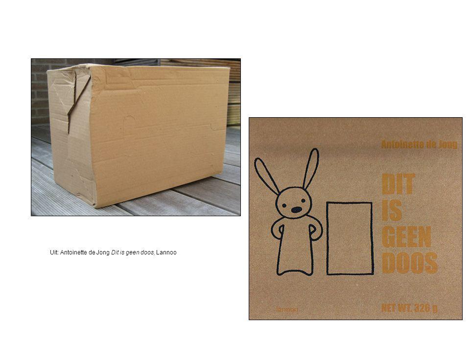 Uit: Antoinette de Jong Dit is geen doos, Lannoo