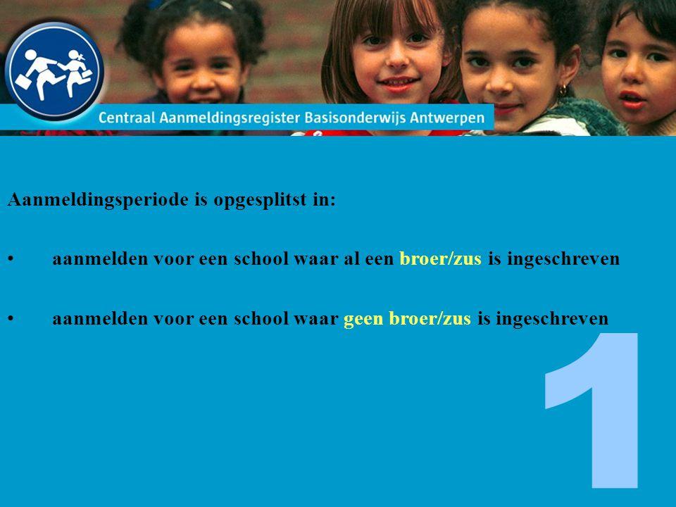 Belangrijke weetjes website Bij 'scholen ordenen' kan je de scholen van plaats veranderen.
