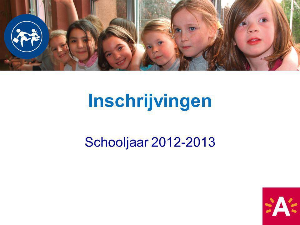 Inschrijvingen Schooljaar 2012-2013