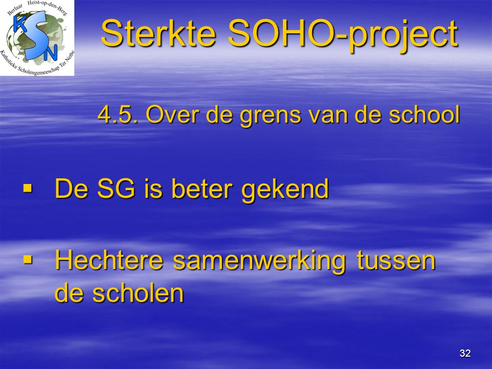 32 Sterkte SOHO-project 4.5.