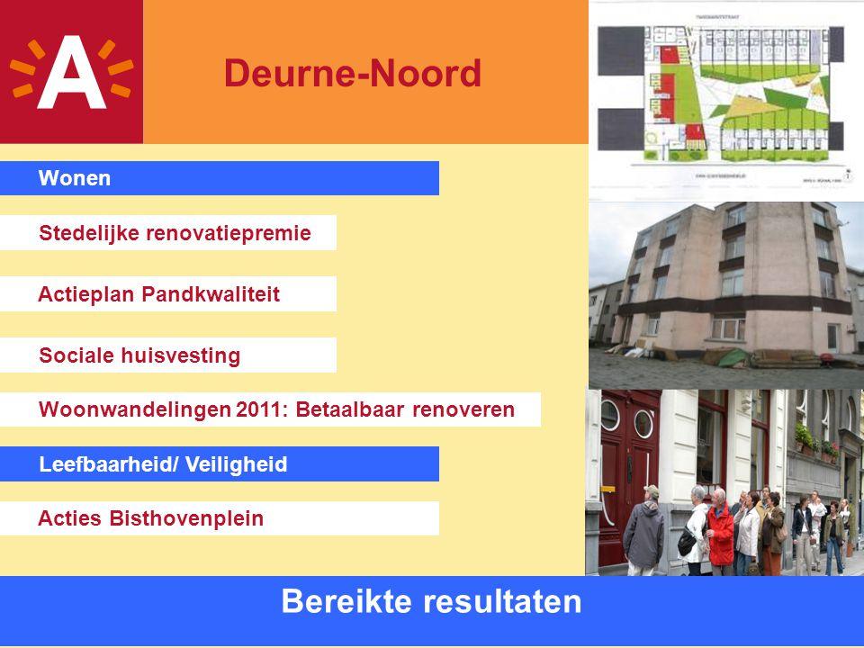 10 Bereikte resultaten Sociale huisvesting Stedelijke renovatiepremie Actieplan Pandkwaliteit Woonwandelingen 2011: Betaalbaar renoveren Wonen Leefbaa