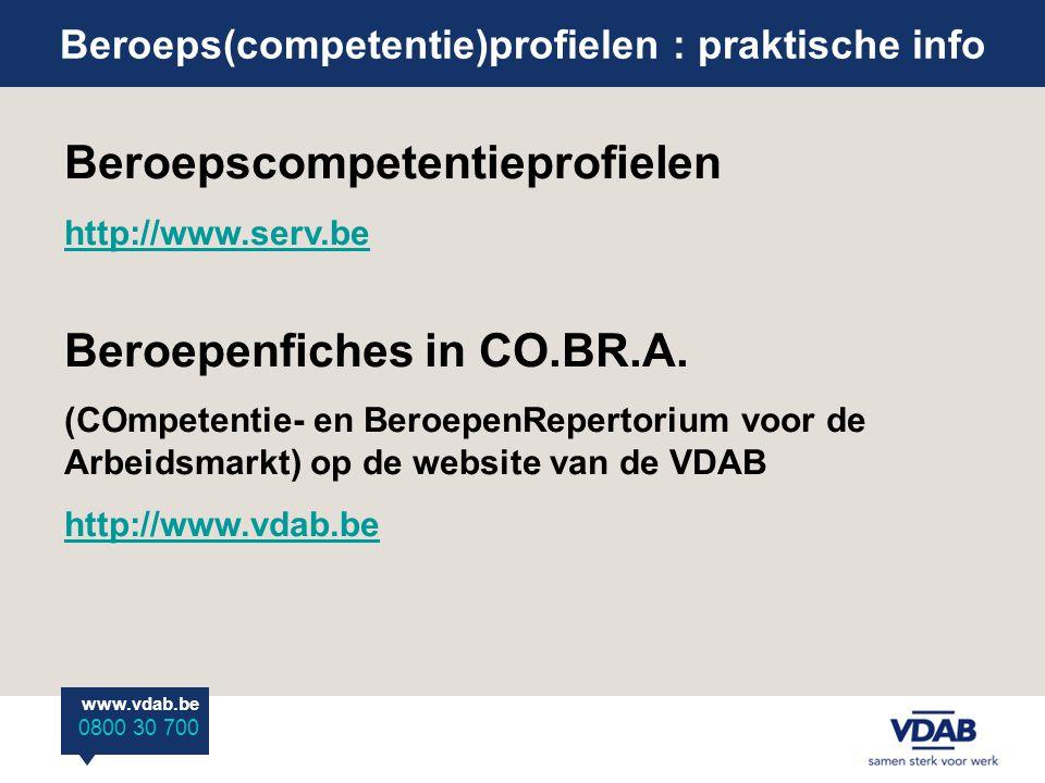 www.vdab.be 0800 30 700 en beroepsstandaarden.