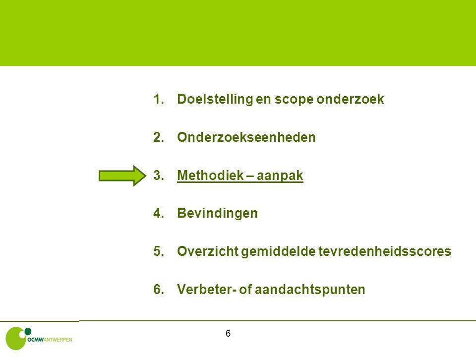 17 1.1Binnen- en buitenkant gebouw -Gemiddelde tevredenheidsscore buitenkant = 4,7 op 5 -Lagere score voor Antwerpen Dam (3,5), Coevelt Deurne (4,2), Berendrecht (4,3) en Zurenborg (4,4) -Gemiddelde tevredenheidsscore binnenkant = 4,7 op 5 -Lagere score voor Antwerpen Dam (3,8), Coevelt Deurne (4,3), Zurenborg (4,4) en Berendrecht (4,5)