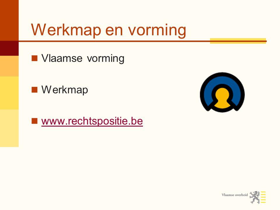 Werkmap en vorming Vlaamse vorming Werkmap www.rechtspositie.be
