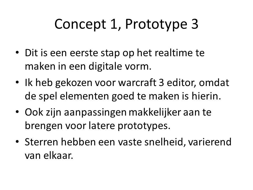 Concept 1, Prototype 3 Dit is een eerste stap op het realtime te maken in een digitale vorm.